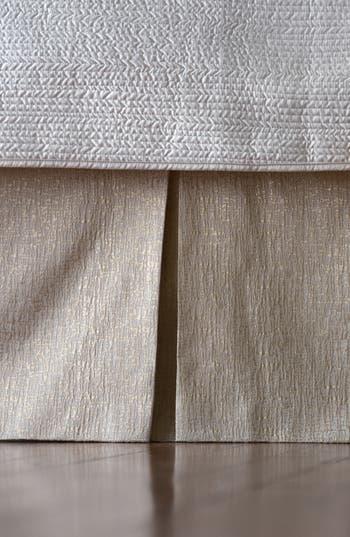 Lili Alessandra Tailored Metallic Bed Skirt