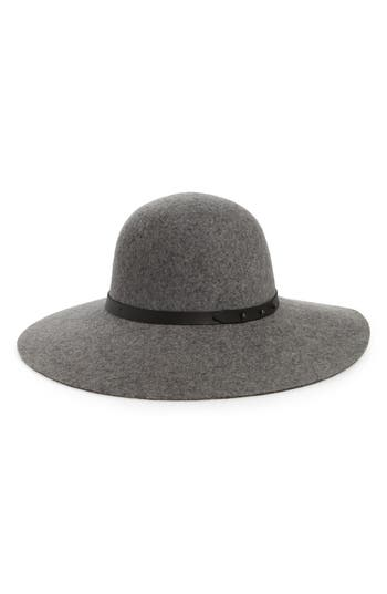 Halogen® Refined Wide Brim Wool Floppy Hat