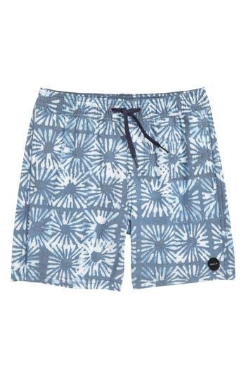 Boys Rvca Duh Loris Swim Trunks Size S  8  Blue