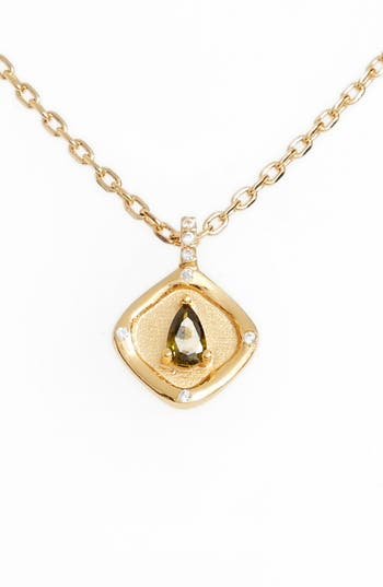 Lulu DK Teardrop Monthstone Pendant Necklace
