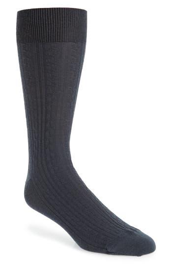 John W. Nordstrom® Cable Knit Merino Blend Socks