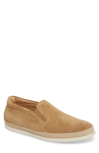 TOD'S LEATHER SLIP-ON