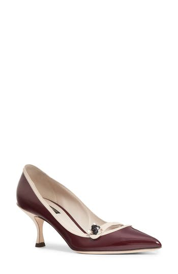 DOLCE & GABBANA JEWEL POINTY TOE PUMP