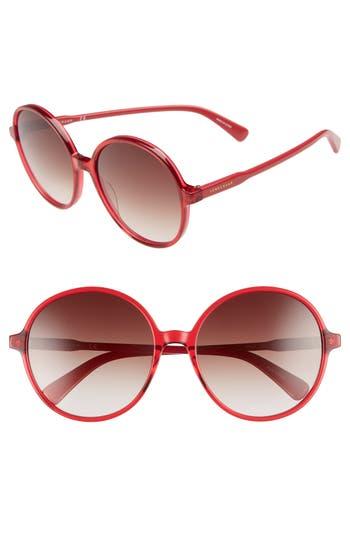Longchamp 49mm Gradient Round Sunglasses