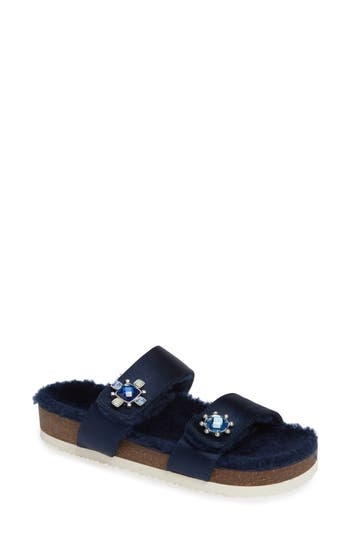CELIA GENUINE SHEARLING SLIDE SANDAL