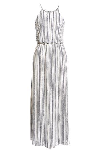 Women's Print Maxi Dress, Size X-Small - White