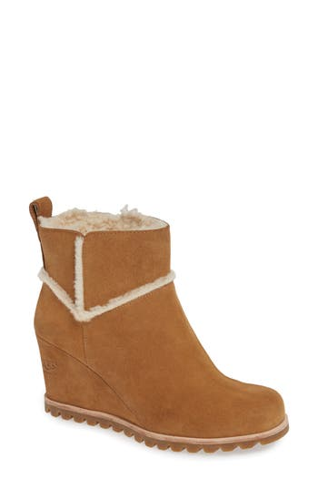 UGG® Marte Waterproof Wedge Bootie