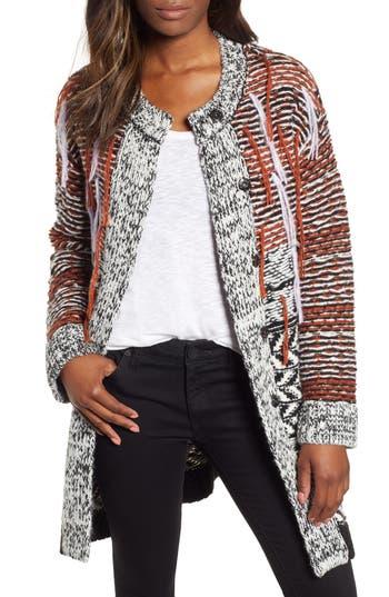 Caslon® Multi Jacquard Sweater Coat