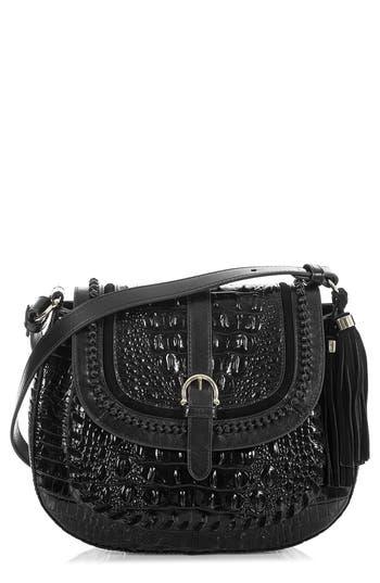 Brahmin Addilyn Croc Embossed Leather Crossbody Bag