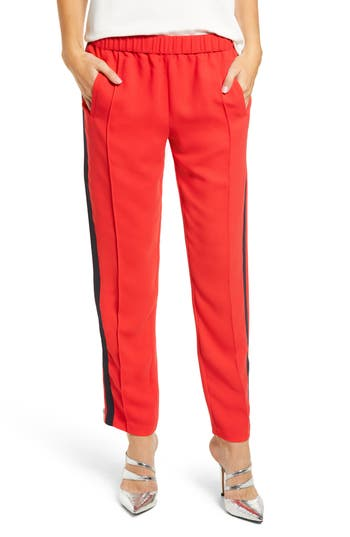 Women's Chelsea28 Side Stripe Track Pants, Size XX-Small - Red