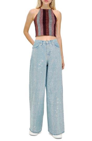 Topshop Mermaid Wide Leg Jeans