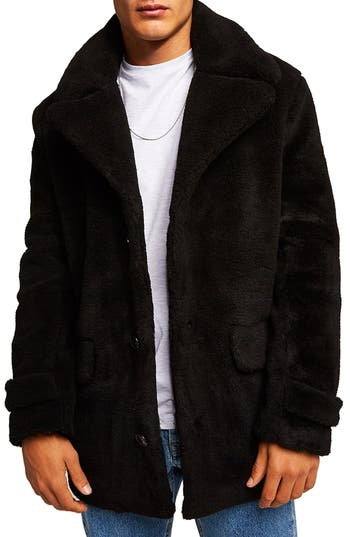 Topman Faux Fur Coat