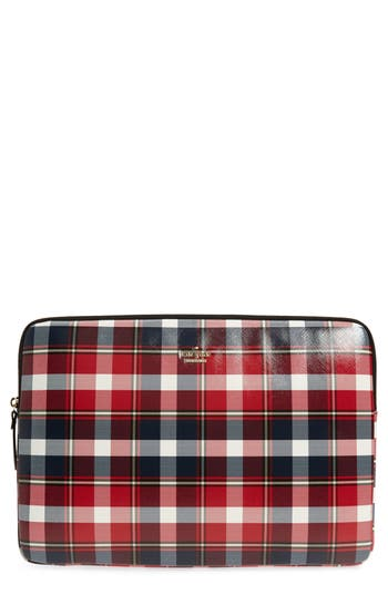 kate spade new york rustic plaid universal laptop sleeve