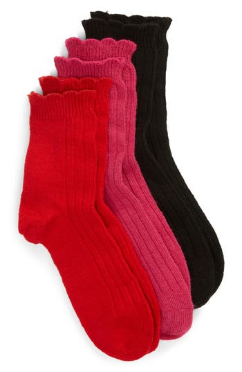 UGG® Assorted 3-Pack Crew Socks
