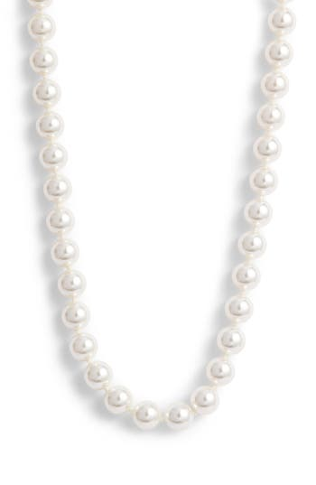 Nadri Simulated Pearl Long Necklace