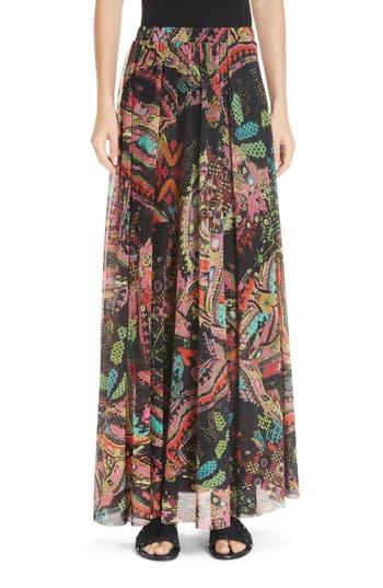 Fuzzi Paisley Tulle Maxi Skirt