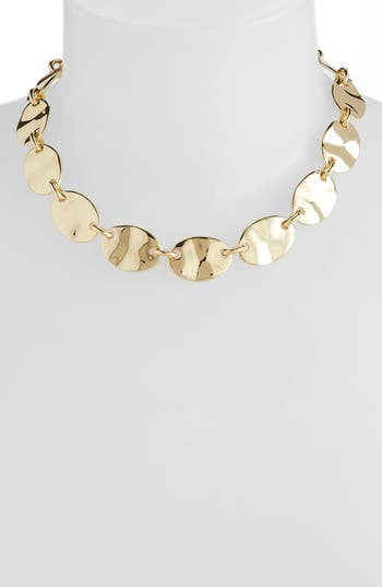 Halogen® Molten Disc Collar Necklace