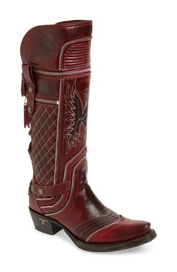 LANE BOOTS Zip It Convertible Knee High Western Boot (Women)