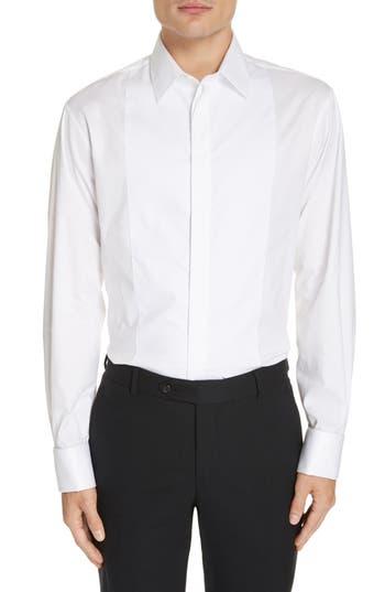Emporio Armani Trim Fit Stretch Tuxedo Shirt