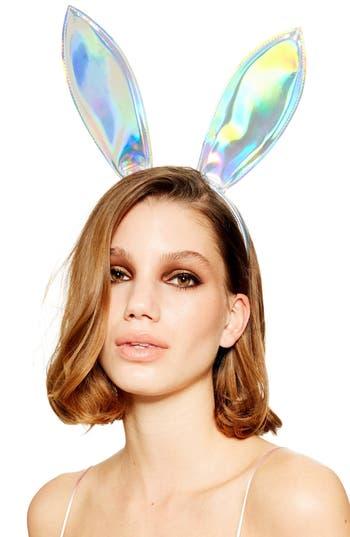 Topshop Iridescent Bunny Ear Headband
