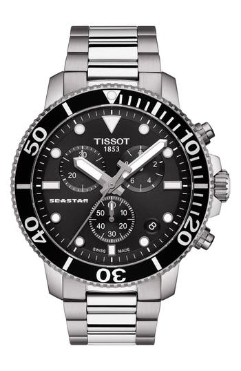 Tissot Seastar 1000 Chronograph Bracelet Watch, 45.5mm