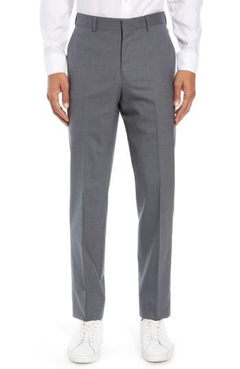 Nordstrom Men's Shop Tech-Smart Trim Fit Stretch Wool Travel Trousers