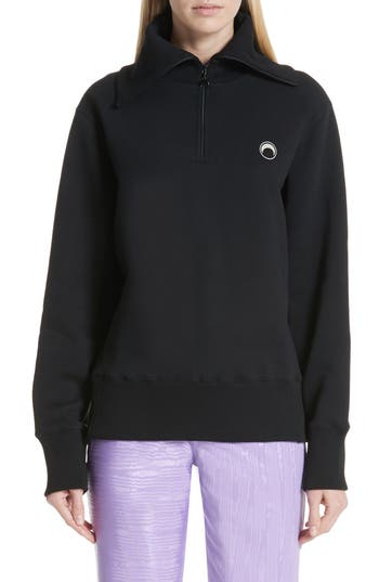 Marine Serre Half Zip Pullover