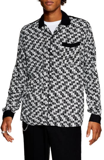 Topman Bodders Domino Print Shirt