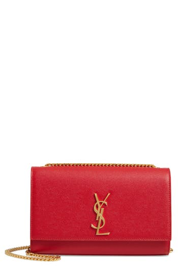 Saint Laurent 'Medium Kate' Leather Chain Shoulder Bag