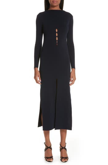 Jacquemus La Robe Douira Cutout Sweater Dress