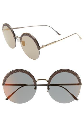 Bottega Veneta 60mm Rimless Round Sunglasses