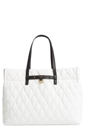 Givenchy Quilted East/West Faux Leather Shopper