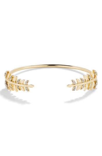 BaubleBar Double Leaf Cuff Bracelet