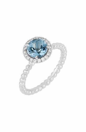 Bony Levy Diamond & Aquamarine Ring