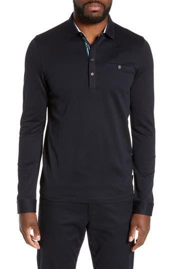 Ted Baker London Fruitpa Slim Fit Long Sleeve Polo