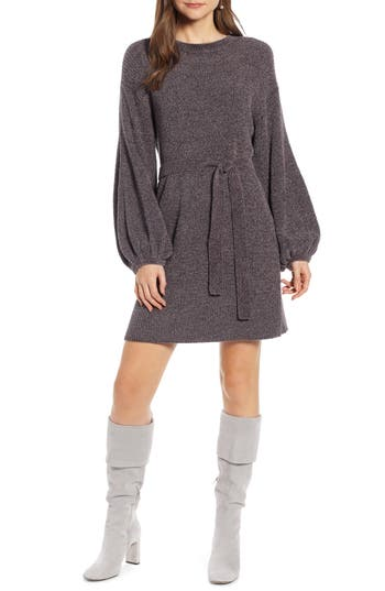 Something Navy Shimmer Sweater Dress