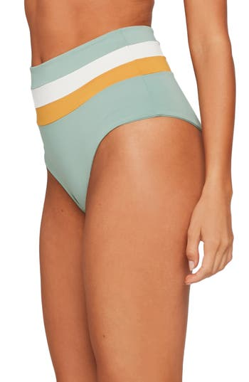 L Space Portia Reversible High Waist Bikini Bottoms