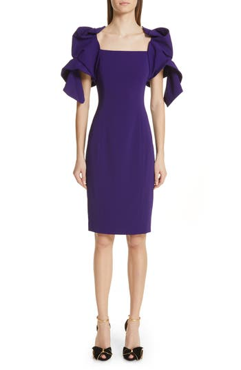Badgley Mischka Collection Origami Sleeve Cocktail Dress