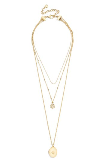 BaubleBar Layered Pendant Necklace