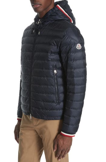 Moncler Giroux Zip-Up Hooded Down Jacket