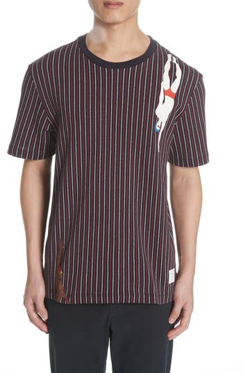 Thom Browne Pinstripe Diver T-Shirt
