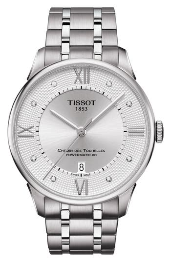 Tissot Chemin des Tourelles Powermatic 80 Bracelet Watch, 42mm