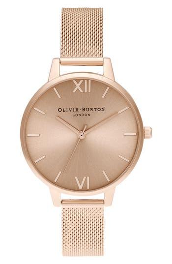 Olivia Burton Mesh Strap Watch, 34mm