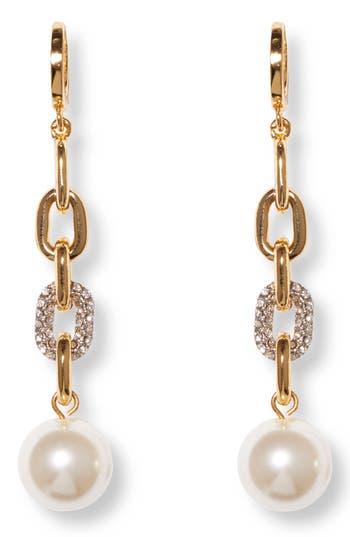 Vince Camuto Link Huggie Drop Earrings