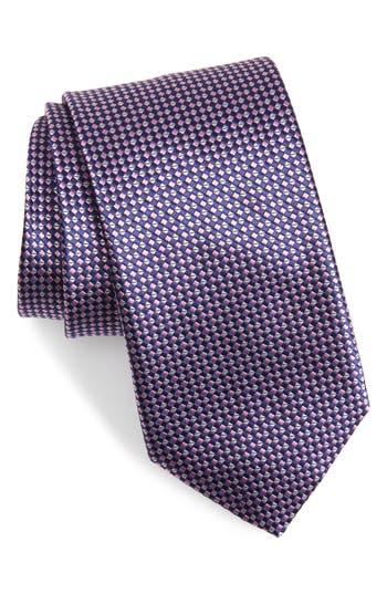 Canali Geometric Silk X-Long Tie