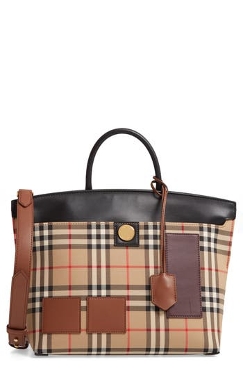 Burberry Small Vintage Check Top Handle Satchel