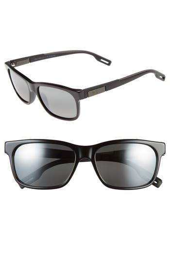 Maui Jim Eh Brah 55Mm Polarizedplus2 Sunglasses - Gloss Black/ Neutral Grey
