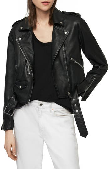 ALLSAINTS Lexi Lambskin Leather Biker Jacket