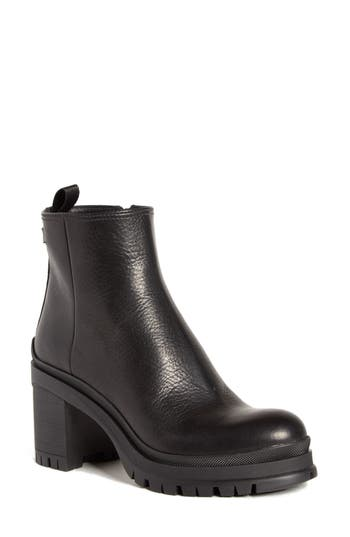 Prada Lug Sole Leather Bootie (Women)