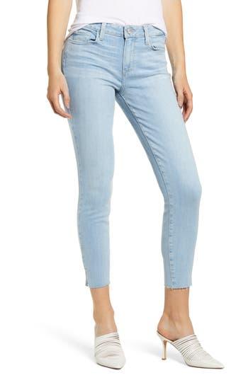PAIGE Verdugo Side Slit Crop Skinny Jeans (Stassie)
